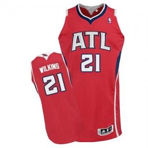Maillot NBA Authentic Dominique Wilkins #21 Atlanta Hawks Alternate Rouge - Homme