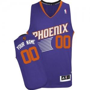 Phoenix Suns Authentic Personnalisé Road Maillot d'équipe de NBA - Violet pour Enfants