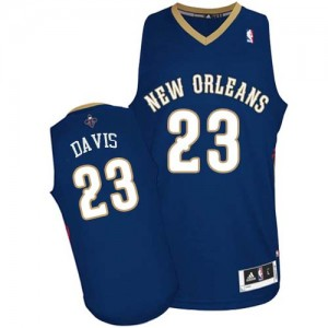 Maillot NBA New Orleans Pelicans #23 Anthony Davis Bleu marin Adidas Authentic Road - Homme