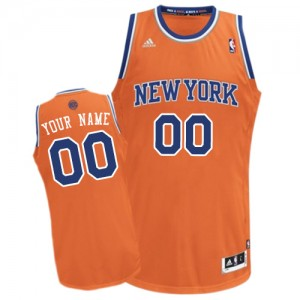 Maillot Adidas Orange Alternate New York Knicks - Swingman Personnalisé - Homme