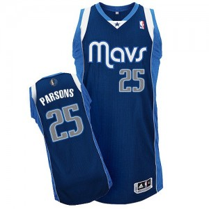 Maillot NBA Bleu marin Chandler Parsons #25 Dallas Mavericks Alternate Authentic Homme Adidas