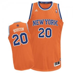 New York Knicks #20 Adidas Alternate Orange Swingman Maillot d'équipe de NBA Vente pas cher - Allan Houston pour Homme