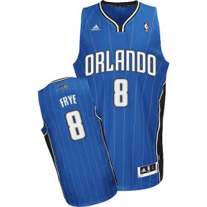 Maillot Adidas Bleu royal Road Swingman Orlando Magic - Channing Frye #8 - Homme