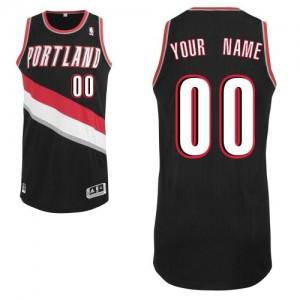 Maillot Adidas Noir Road Portland Trail Blazers - Authentic Personnalisé - Enfants