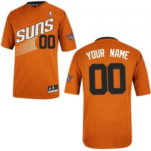 Phoenix Suns Personnalisé Adidas Alternate Orange Maillot d'équipe de NBA pas cher - Authentic pour Enfants