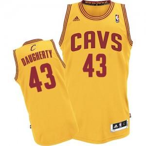 Cleveland Cavaliers Brad Daugherty #43 Alternate Authentic Maillot d'équipe de NBA - Or pour Homme