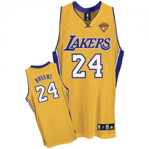 Maillot NBA Authentic Kobe Bryant #24 Los Angeles Lakers Home Final Patch Or - Homme