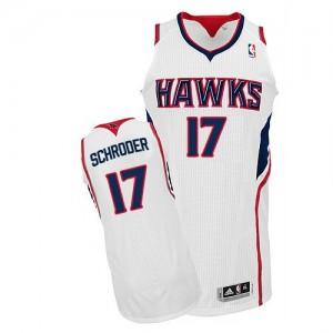 Maillot Authentic Atlanta Hawks NBA Home Blanc - #17 Dennis Schroder - Homme