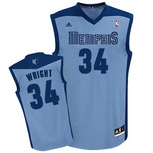 Maillot NBA Memphis Grizzlies #34 Brandan Wright Bleu clair Adidas Swingman Alternate - Homme