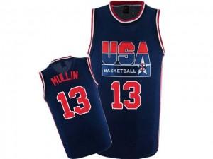 Team USA #13 Nike 2012 Olympic Retro Bleu marin Authentic Maillot d'équipe de NBA prix d'usine en ligne - Chris Mullin pour Homme