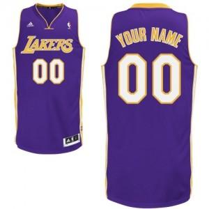 Maillot NBA Swingman Personnalisé Los Angeles Lakers Road Violet - Enfants
