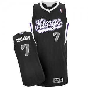 Maillot NBA Noir Darren Collison #7 Sacramento Kings Alternate Authentic Homme Adidas