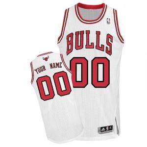 Maillot NBA Blanc Authentic Personnalisé Chicago Bulls Home Enfants Adidas