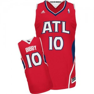 Maillot NBA Atlanta Hawks #10 Mike Bibby Rouge Adidas Swingman Alternate - Homme