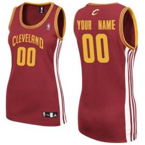 Maillot Cleveland Cavaliers NBA Road Vin Rouge - Personnalisé Authentic - Femme