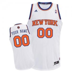 Maillot NBA Swingman Personnalisé New York Knicks Home Blanc - Homme