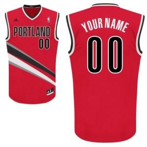 Maillot Adidas Rouge Alternate Portland Trail Blazers - Swingman Personnalisé - Femme