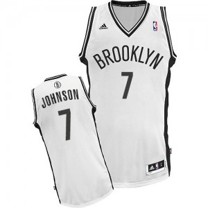 Maillot NBA Swingman Joe Johnson #7 Brooklyn Nets Home Blanc - Homme