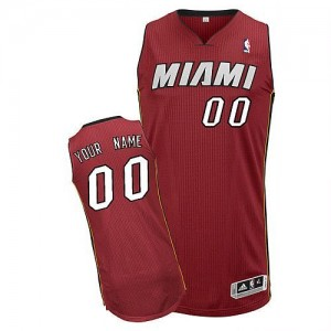 Maillot NBA Miami Heat Personnalisé Authentic Rouge Adidas Alternate - Homme