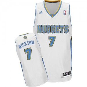 Maillot Adidas Blanc Home Swingman Denver Nuggets - JJ Hickson #7 - Homme