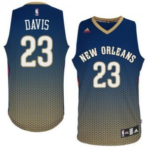 New Orleans Pelicans Anthony Davis #23 Resonate Fashion Swingman Maillot d'équipe de NBA - Bleu marin pour Homme