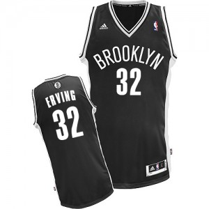 Maillot Adidas Noir Road Swingman Brooklyn Nets - Julius Erving #32 - Homme