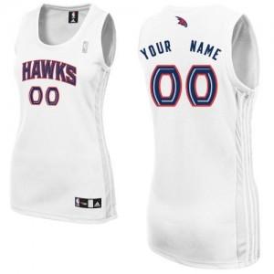 Maillot NBA Atlanta Hawks Personnalisé Authentic Blanc Adidas Home - Femme