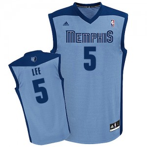 Maillot NBA Bleu clair Courtney Lee #5 Memphis Grizzlies Alternate Swingman Homme Adidas