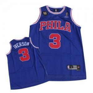 Maillot NBA Swingman Allen Iverson #3 Philadelphia 76ers 10TH Throwback Bleu - Homme