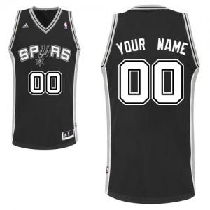 San Antonio Spurs Personnalisé Adidas Road Noir Maillot d'équipe de NBA Magasin d'usine - Swingman pour Homme