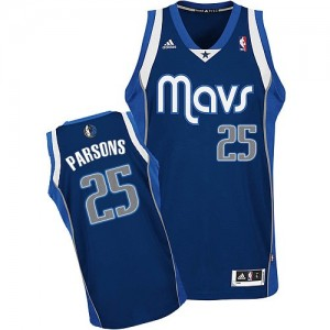 Maillot NBA Dallas Mavericks #25 Chandler Parsons Bleu marin Adidas Swingman Alternate - Homme