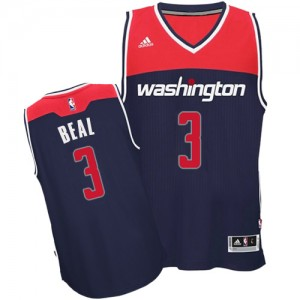 Washington Wizards Bradley Beal #3 Alternate Authentic Maillot d'équipe de NBA - Bleu marin pour Homme