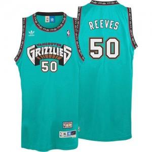Memphis Grizzlies Bryant Reeves #50 Hardwood Classics Throwback Authentic Maillot d'équipe de NBA - Vert pour Homme