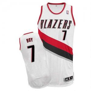 Portland Trail Blazers #7 Adidas Home Blanc Authentic Maillot d'équipe de NBA sortie magasin - Brandon Roy pour Homme
