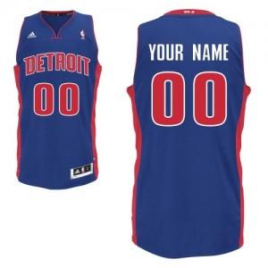 Maillot Adidas Bleu royal Road Detroit Pistons - Swingman Personnalisé - Enfants