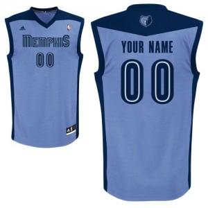 Maillot NBA Bleu clair Swingman Personnalisé Memphis Grizzlies Alternate Homme Adidas
