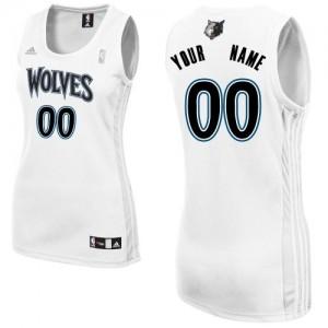 Minnesota Timberwolves Swingman Personnalisé Home Maillot d'équipe de NBA - Blanc pour Femme