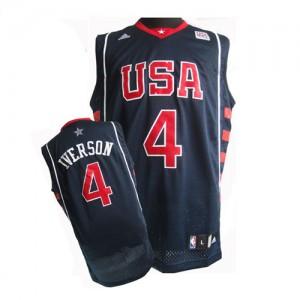 Maillots de basket Swingman Team USA NBA Summer Olympics Bleu marin - #4 Allen Iverson - Homme