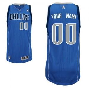 Dallas Mavericks Personnalisé Adidas Road Bleu royal Maillot d'équipe de NBA Vente - Authentic pour Homme