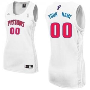 Maillot Adidas Blanc Home Detroit Pistons - Swingman Personnalisé - Femme