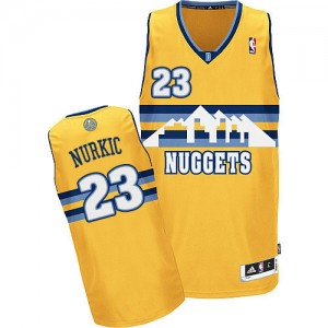Maillot NBA Or Jusuf Nurkic #23 Denver Nuggets Alternate Authentic Homme Adidas