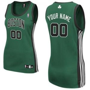 Maillot NBA Authentic Personnalisé Boston Celtics Alternate Vert (No. noir) - Femme