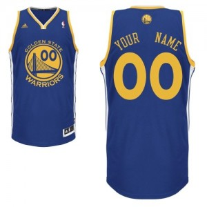 Maillot Adidas Bleu royal Road Golden State Warriors - Swingman Personnalisé - Enfants