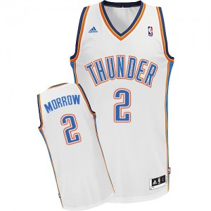 Maillot NBA Oklahoma City Thunder #2 Anthony Morrow Blanc Adidas Swingman Home - Homme