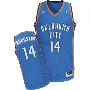 Oklahoma City Thunder #14 Adidas Road Bleu royal Swingman Maillot d'équipe de NBA 100% authentique - D.J. Augustin pour Homme