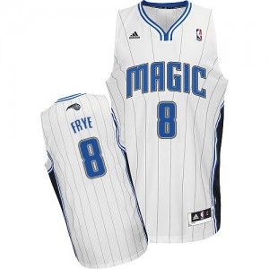 Maillot Adidas Blanc Home Swingman Orlando Magic - Channing Frye #8 - Homme
