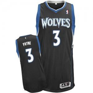 Minnesota Timberwolves #3 Adidas Alternate Noir Authentic Maillot d'équipe de NBA Vente - Adreian Payne pour Homme