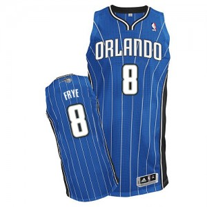 Maillot NBA Bleu royal Channing Frye #8 Orlando Magic Road Authentic Homme Adidas
