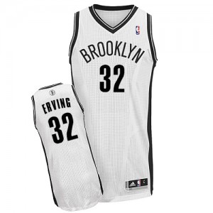 Maillot NBA Blanc Julius Erving #32 Brooklyn Nets Home Authentic Homme Adidas