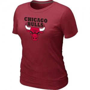 Chicago Bulls Big & Tall Tee-Shirt d'équipe de NBA - Rouge pour Femme